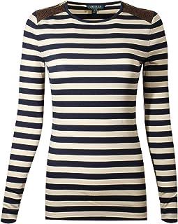 Ralph Lauren Polo Women's Crew Neck Long Sleeve Shoulder Zipper