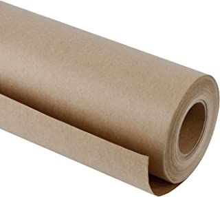 RUSPEPA Brown Kraft Paper Roll - 48 Inch x 100 Feet - Recycled Paper Perfect for Gift Wrapping, Craft, Packing, Floor Covering, Dunnage, Parcel, Table Runner