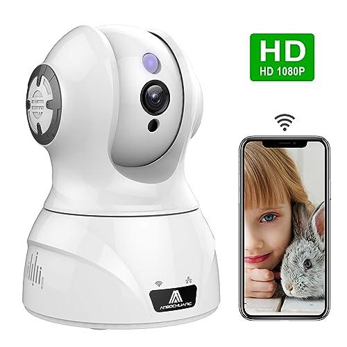 ネットワークカメラ ペットカメラ 1080P IPカメラ ベビーモニター 暗視撮影 双方向音声 動体検知 防犯 監視 子供見守り カメラ スマホ パソコン対応