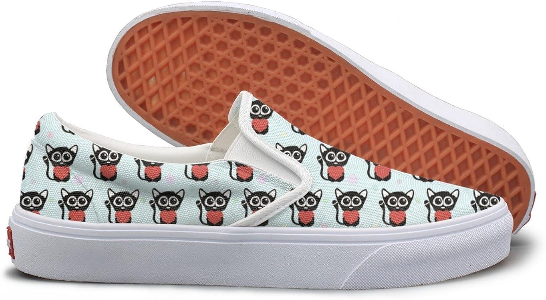 SEERTED Cute Kitten Cat bluee Background Walking Sneakers for Women