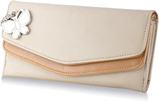 Butterflies Cream Synthetic Women's Wallet (BNS 2332 CRM)