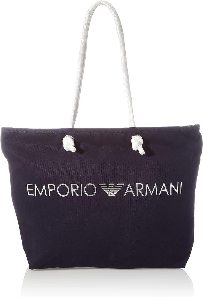 Emporio armani swimwear shopping bag borsa da donna in nylon blu marino