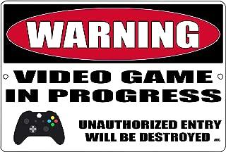 Rogue River Tactical Funny Video Games Metal Tin Warning Sign Wall Decor Man Cave Bar Bedroom Gamer