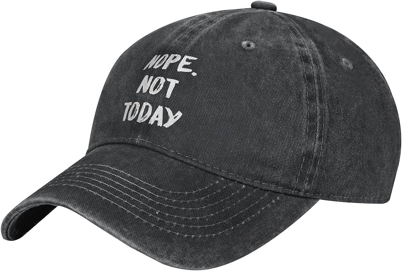 Wisedeal Women's Nope Not Today Hat Distressed Vintage Adjustable Baseball Cap