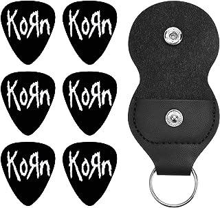 コーン バンド Korn Metal Band ギターピック オシャレ ベース、カポタスト ギター、カポ アコースティックギター、ウクレレ、エレキギター用 ピック トライアングル 6枚セット プレゼント 0.96mm