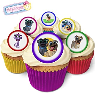 24 Fabulous Pre-Cut Edible Wafer Cake Toppers: Puppy Dog Pals