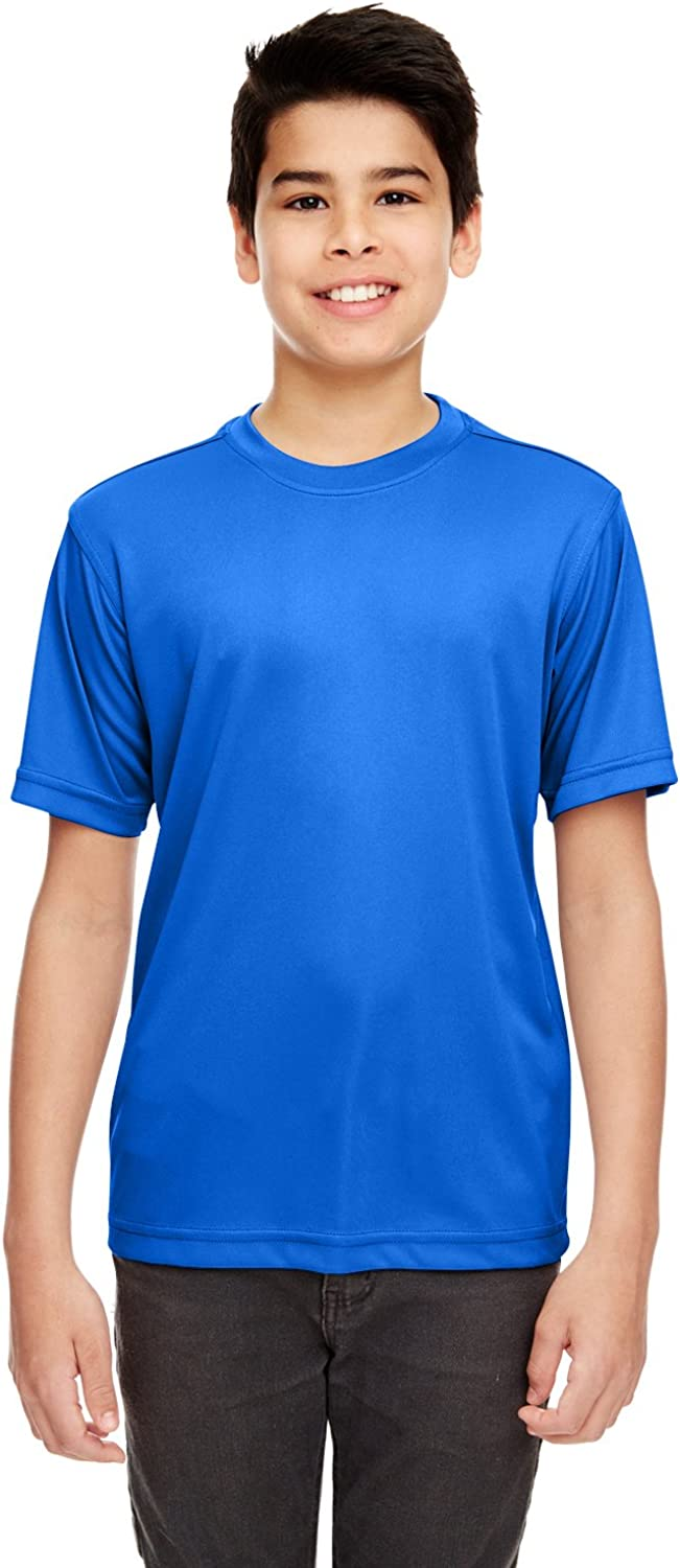 UltraClub Youth Cool & Dry Pill Resistant Basic Performance T Shirt