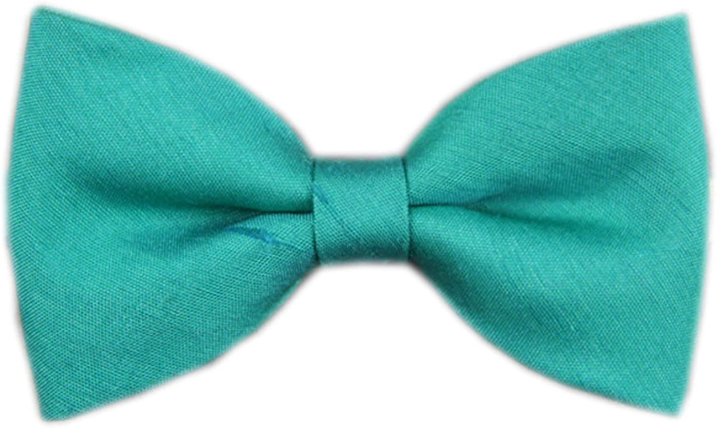 Cloud Rack Bow Tie Tussah Silk Pure Pine Green