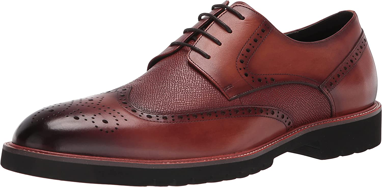 Zanzara Men's Casual Dress Shoe Oxford, Cognac, 12