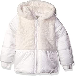 Jessica Simpson Baby Girls Satin Peplum Puffer Jacket
