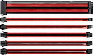 مجموعة كبل توصيل طاقة من ثيرمال تاك، اغراض، ازرق اسود (AC-035-CN1NAN-A1), احمر