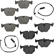 Front & Rear Ceramic Disc Brake Pad & Wear Sensor Kit LH & RH Sides for BMW X5
