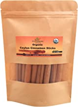 "Organic Ceylon cinnamon sticks 3"" (1 oz), True Cinnamon, Premium Grade, Harvested & Packed from a USDA Certified Organic F..."