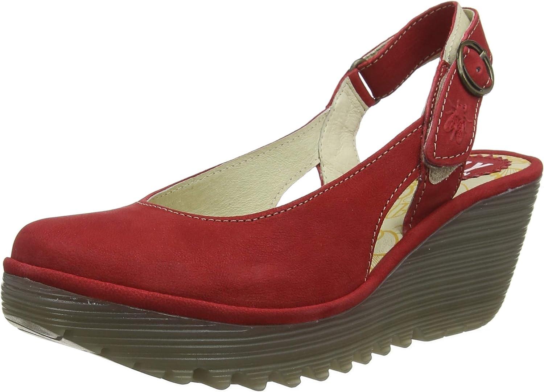 Fly London Womens Ylux Cupido Slingback Closed Toe Work Wedge Heel shoes