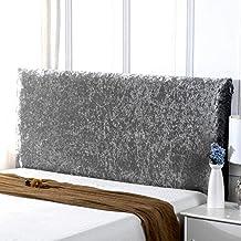 Stretch Bed Headboard Cover Velvet Headboard Slipcover Protector Dustproof Headboard Decor for Single Double King Beds