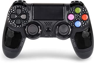 Controlador PS4 - Controlador inalámbrico Dual Shock 4 para Playstation 4 - Joystick con Sixaxis, Bluetooth, Super Power, Micro USB, Multi-Touch Touch Touch Pad, Negro