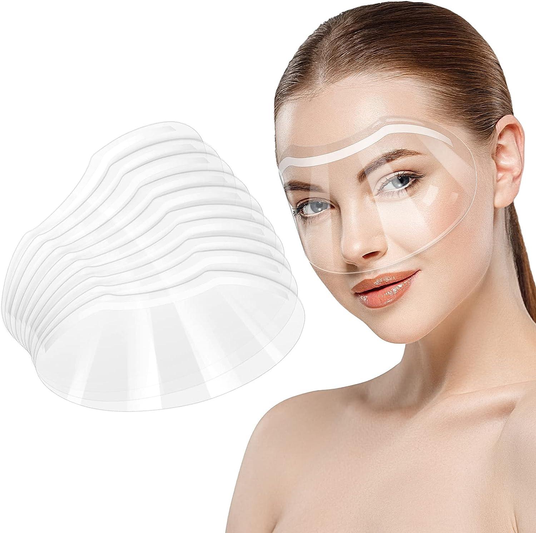 Visera de Plástico Desechable para Microblading Cirugía de Catarata de Ojos Cuidado Posterior de Blefaroplastia de Párpados Protector de Ojos Ducha Visera Suave Transparente, 30 Piezas