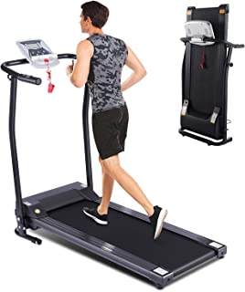 fannay Folding Treadmill for Home, Portable Electric Treadmill Exercise Machine with LCD Display & Pulse Grip, Running Walking Jogging Exercise Fitness Machine for Home Gym Easy Assemble