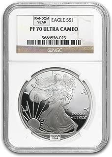 1986 - Present 1 oz Proof Silver American Eagle (Random Year) 1 OZ PF-70 NGC