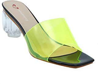 Shuberry SB-19028 Latest Footwear Collection, Comfortable & Fashionable Synthetic in Green Neon, Pink & Red Colour Sandal for Women & Girls