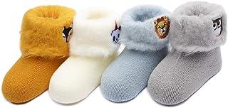 Calcetines Termicos de Felpa para Bebé Paquete de 4