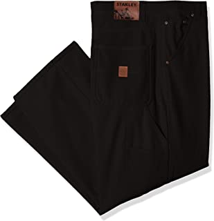 Stanley Workwear Men's Big Size Canvas Carpenter Pant with Micro Fleece Lining