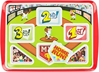 Fun Kids Dinner Plate Home Run Baseball Themed | Your Kids Will Eat Better | Be A Winner & Hit A Home Run At Breakfast Lunch & Dinner. Promotes Healthy Eating!