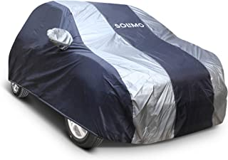 Amazon Brand - Solimo Hyundai i20/Elite i20 Water Resistant Car Cover (Dark Blue & Silver)