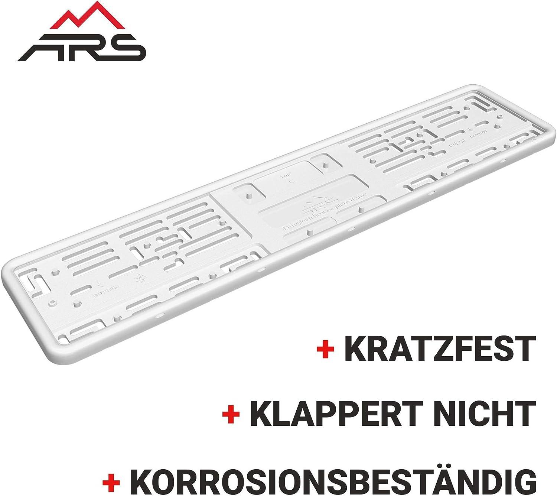 Grau Kennzeichenhalter SILIKON 1 St/ück EU 520 х 110 f/ür Vibrationsschutz Einfache Installation Nummernschildhalter