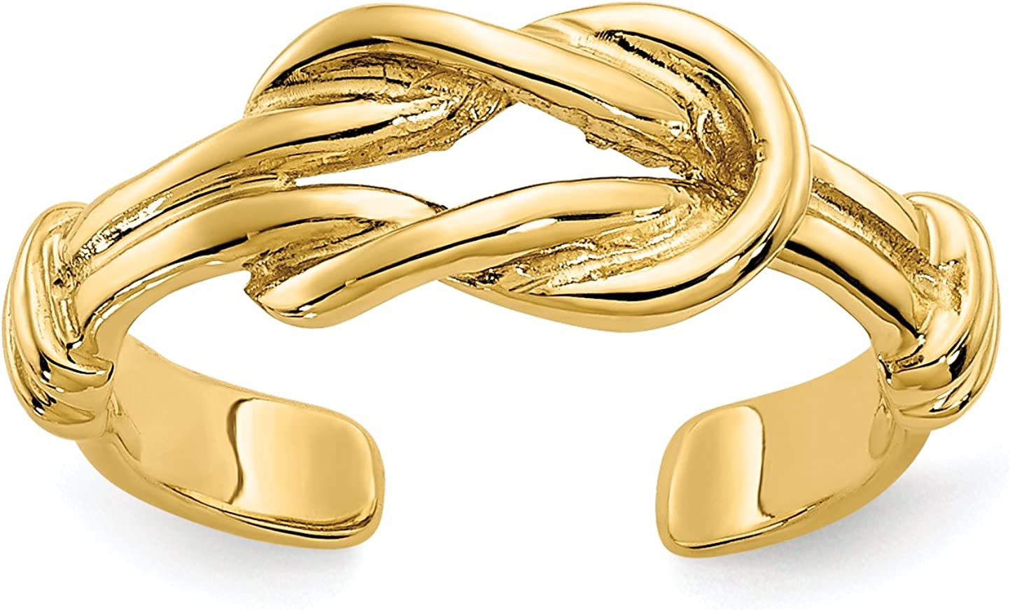 14k Yellow Gold Love Knot Toe Ring