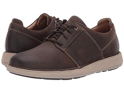 Clarks Un Larvik Lace (Brown Oily Leather) Men