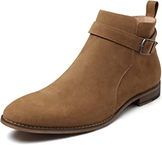 Sponsored Ad - ZRIANG Mens Chukka Ankle Boot Classic Suede Leather Lace-up Dress Boots