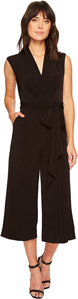 CATHERINE Catherine Malandrino - Sleeveless Pin Tuck Jumpsuit
