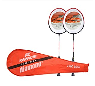 Kamachi 9006 Diamond Steel Badminton Combo (Multicolor)
