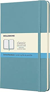 Moleskine Classic Notebook, Large, Dotted, Reef Blue, Hard Cover (5 X 8.25)