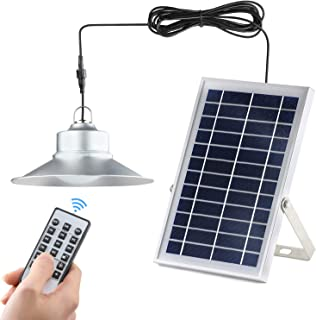 Solar Lights,Kyson Indoor Vintage Solar Shed Light 5200aMH Aluminum Alloy Hanging Barn Light with Remote Control Also for Outdoor Use IP65