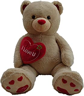 "Pioupiou Jumbo 48"" Plush Teddy Bear with I Love You Heart (Birthdays, Valentines Day, Engagements,, Mother's Day, Sweetest..."