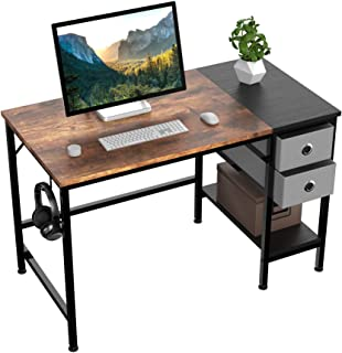 HOMIDEC Computer Desk, Office Work Desk for student and worker, Writing Desk with drawer and Headphone Hook, Laptop Table ...