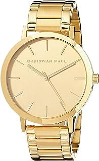 Christian Paul Unisex-Adult CGG4325 Year-Round Analog Quartz Gold Watch