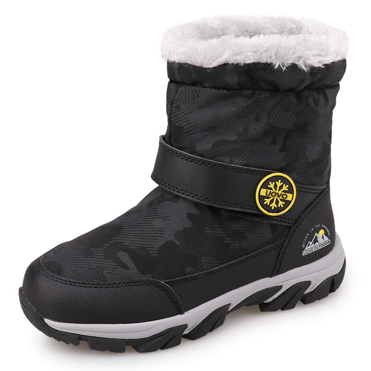 UOVO Youwo子供のブーツ女の子の綿のブーツ新しい冬プラスベルベットプラス韓国の王女の雪の靴メンズブーツクロスボーダー爆発アラスカの厚いバージョンは、購入する写真のサイズ表を参照してください