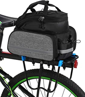 XHZY 1 PCs Bicycle Carrier Bag Rack Trunk Bike Luggage Back Panner Two Double Bags Sport Cycling Saddle Storage Rear Seat Waterproof of Double Bag Blue