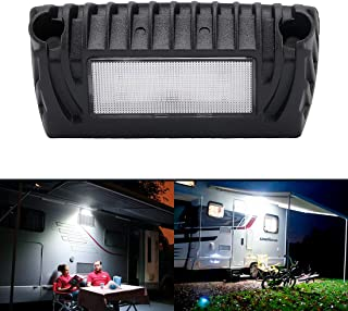 SUPAREE LED RV Exterior Porch Utility Light - Black 12V 750 Lumen Lighting Fixture Kit Replacement for RVs Trailers Campers