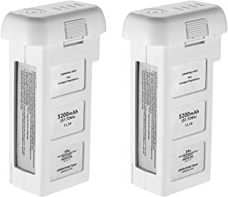 Powerextra 2-Pack 11.1V 5200 mAh LiPo Intelligent Battery Repleacement for DJI Phantom 2, Phantom 2 Vision and Phantom 2 Vision Plus