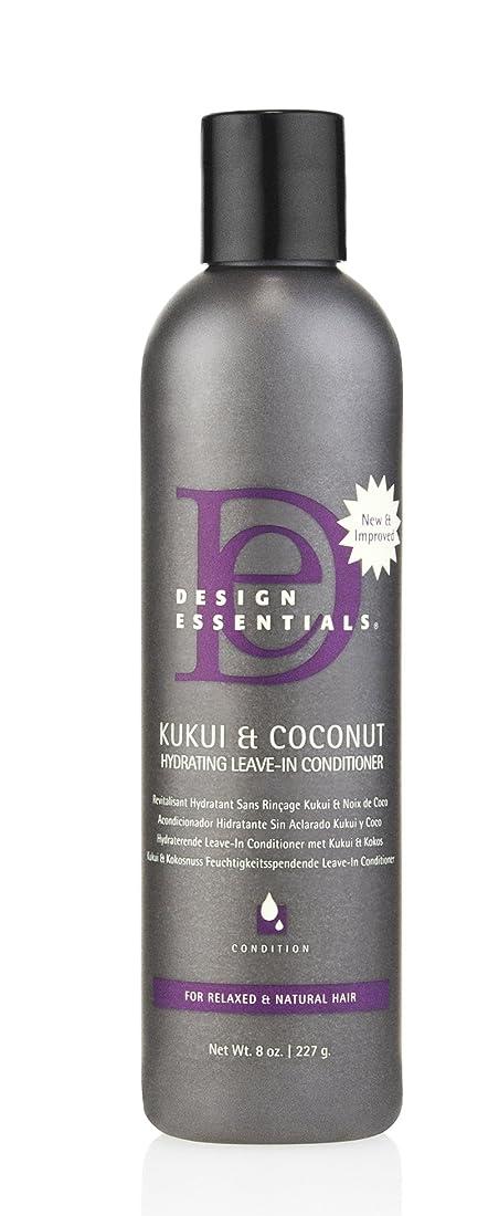 子供時代メディア贈り物Design Essentials ククイ&ココナッツハイドは、リーブインコンディショナー、リラックスしたナチュラルヘア-8オンスのために強化。 8オンス