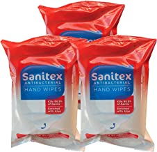 Sanitex Antibacterial Hand Wipes, Fresh Scent, Pack with 20 Wipes (3)