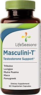 LifeSeasons - Masculini-T - Testosterone Support for Men - Supplement for Healthy Male Stamina, and Energy - with Ginkgo, ...
