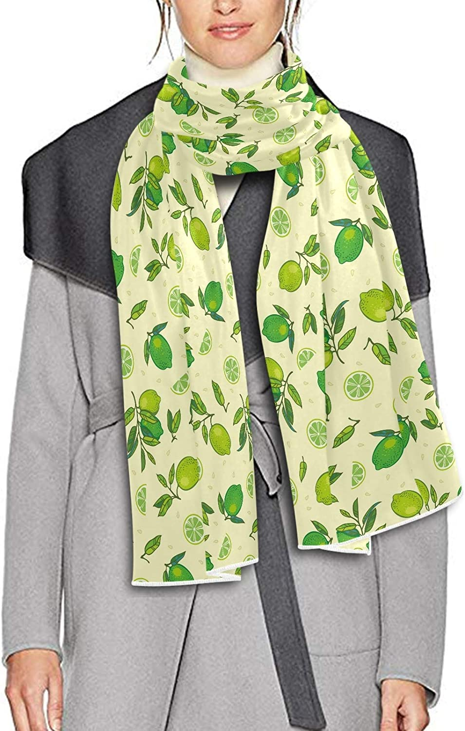 Scarf for Women and Men Fruits Pears Green Shawl Wraps Blanket Scarf Thick Soft Winter Oversized Scarf Lightweight