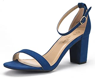 e907aa6705a Amazon.com  Blue - Heeled Sandals   Sandals  Clothing