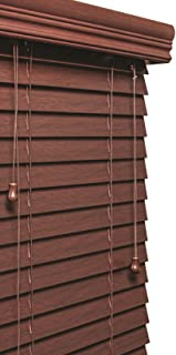 Lotus & Windoware 99 Inch Faux Wood Blinds, Treatments, Window coverings, 31 x 60, Mahogany