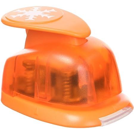Artemio VIHCP249 2,5 cm Grand Flocon Perforatrice à Levier Numéro 3 Orange, 12,19 x 8,41 x 4,8 cm